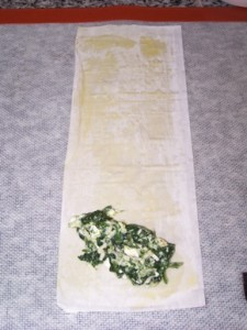 spanakopita wrap step 2