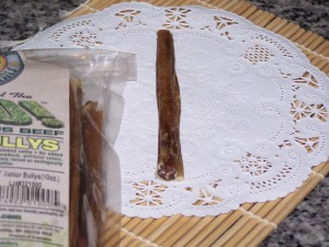 Grass-fed Moo Odor Free bully sticks 5-6 inch Junior 10 oz