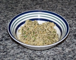 Herbed couscous with pine nuts