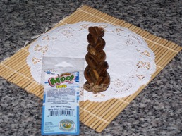 th Grass-fed Moo! Angus Beef Braided Taffy sticks 5inch - 6 inch