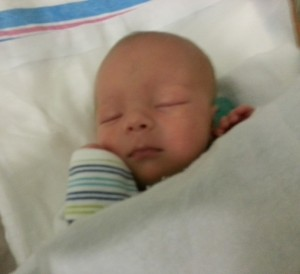 Liam 17 days old without feed tube July 31 2014 blog