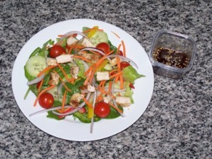 Chicken SAlad with Ginger sesame dressing