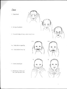 Baby massage Face and chest blog 1