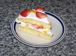 Strawberry Peach Shortcake slice Jan 17 2016