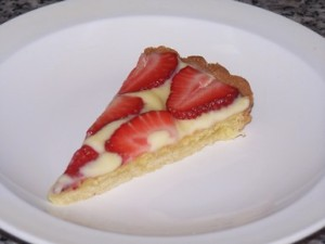 A slice of strawberry tart Feb 16 2016