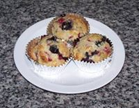 Berry berry peach muffin